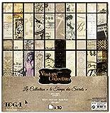 Toga ps153Vintage Lotto di 10Fogli Carta, Multicolore, 30,5x 30,5x 0,1cm