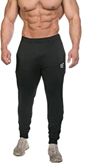 Jed North Men's Active Gym Running Casual Slim Fitted Workout Sweat Pants with Pockets