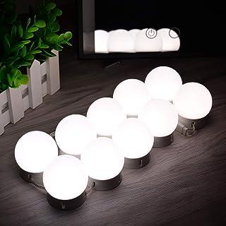 WONSTART 女優ライト 10個led電球 3色調光可能 ハリウッドスタイル 明るさ調節可能 省エネ DIY簡単 化粧ライト メイクアップライト ドレッサー/化粧台などに適用