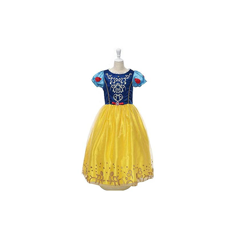 Girls Dress Girls Rapunzel Dress Up Halloween Party Cosplay Dress