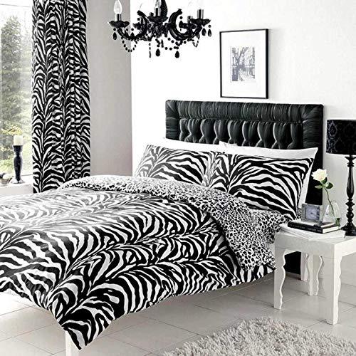 Gaveno Cavailia Luxury ZEBRA SKIN Bed Set With Duvet Cover and Pillow Case White/Black Single