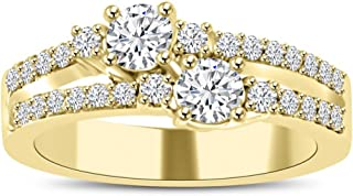 Madina Jewelry 0.75 ct Ladies Round Cut Diamond Anniversary Wedding Band Ring in 18 kt Yellow Gold