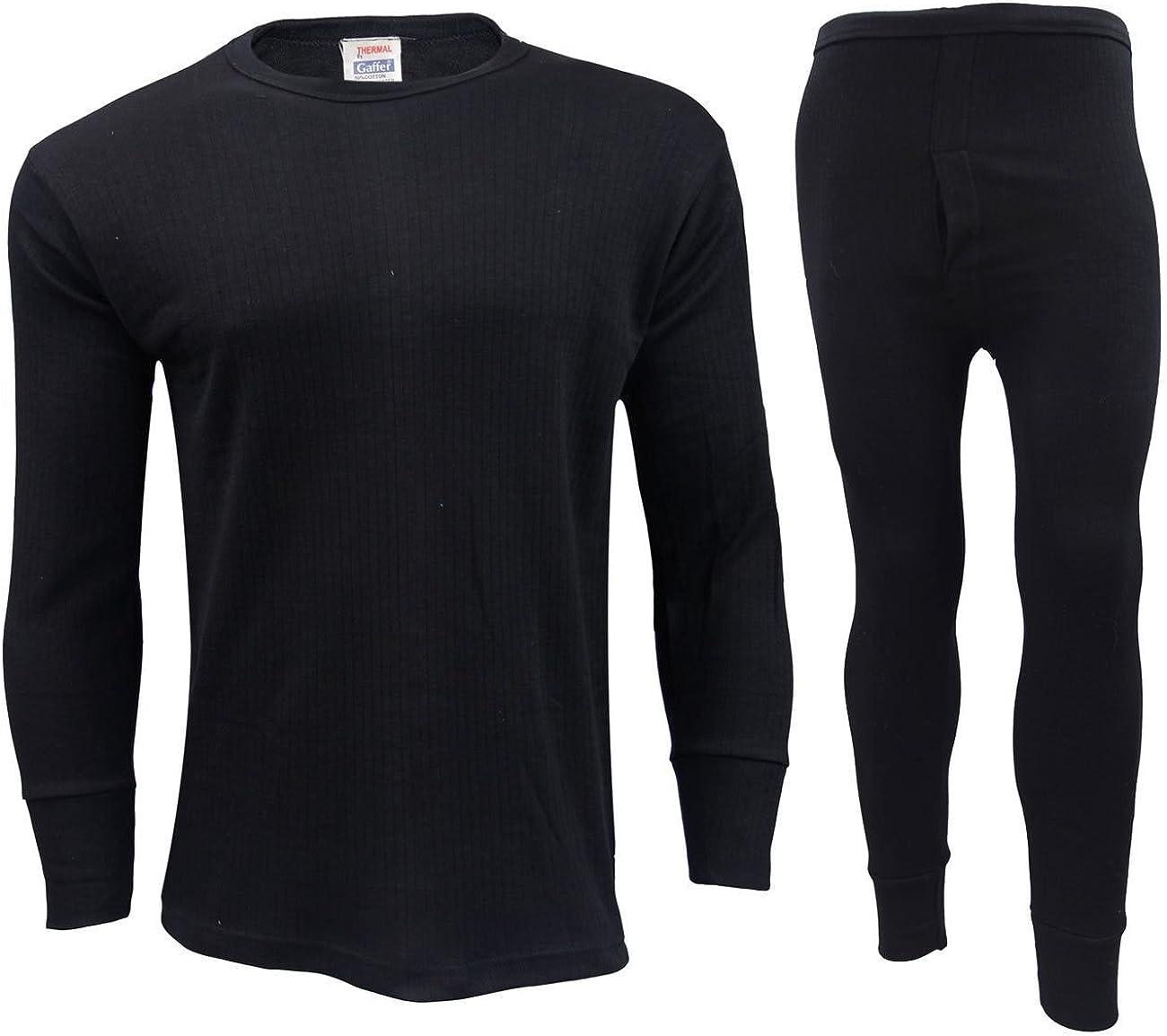 Gaffer Mens Thermal Sets Bottoms Tops T Shirt Long Johns Trousers Warm Vest Tshirt Winter Ski Wear Underwear