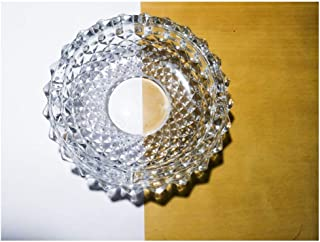 Big Crystal Heavy Glass Ashtray for Indoor and Outdoor Decorative