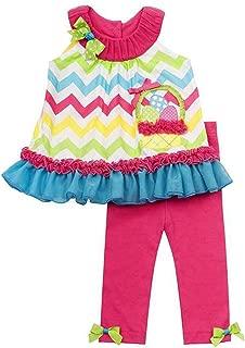 Girls Rainbow Chevron Easter Egg Basket Leggings outfit