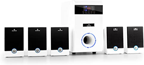 auna 5.1-JW • Sistema de Sonido Envolvente 5.1 • Home Cinema • Surround • Blanco
