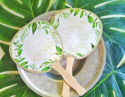 Tropical Program Fan, Beach Wedding Program, Destination Wedding, Wedding, Beach wedding, Ocean Wedding, Fan, Program, Wedding, Wedding Thank you