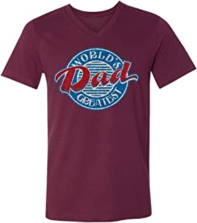 World's Greatest DAD Colorful Family V-Neck T-Shirts for Men