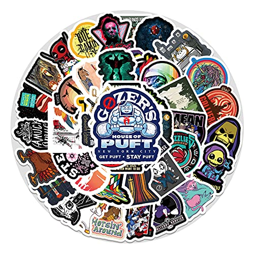 YOUKU European and American Vintage Cartoon Decorative Stickers Laptop Car Skateboard Luggage Graffiti Stickers 50 Sheets