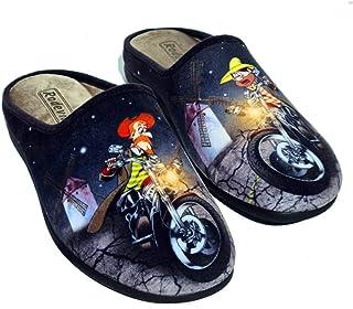 Zapatillas cómodas Andar por casa Don Quijote y Sancho Moteros