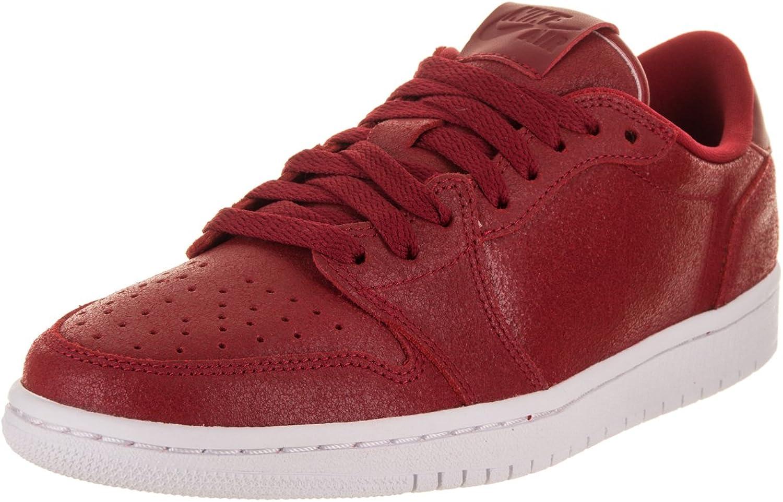 Jordan Nike Women's Air 1 Retro Low NS Gym Red Metallic gold White Basketball shoes 9.5 Women US