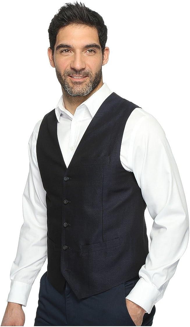 Perry Ellis Men's Big and Tall Linen Suit Vest at  Men's Clothing store