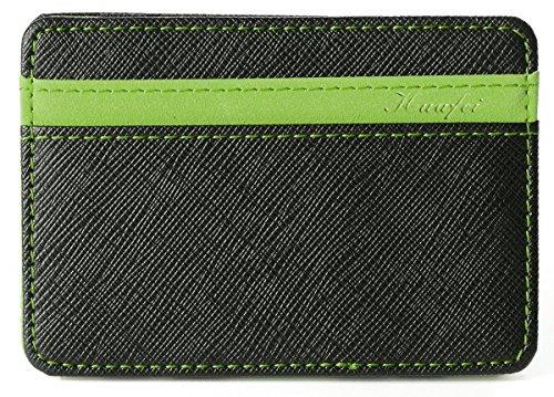 portafoglio uomo minimal Portafoglio Magico in simili cuoio - magic wallet Credit Card Holder - porta moneta (Verde)