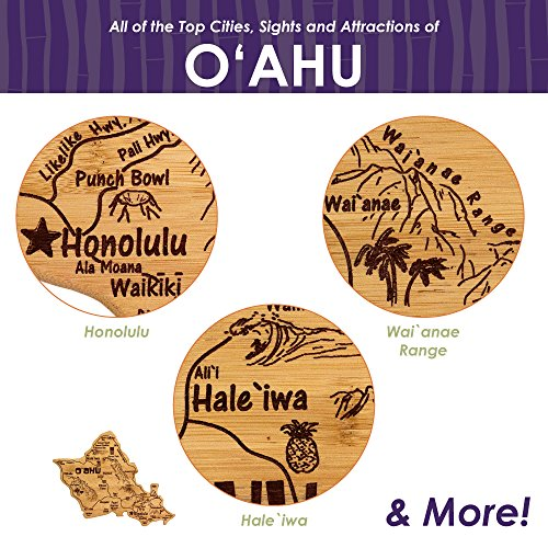 Totally Bamboo Oahu Island Destination Bamboo Serving and Cutting Board