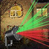 Luces LED Proyectores De Navidad,Rojo & Verde,Impermeable Lámpara De Proyector Iluminación Exterior para Halloween Party Garden House Home Decoración De Pared