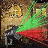 Luces LED Proyectores De Navidad,Rojo & Verde,Impermeable Lámpara De Proyector Iluminación Exterior para Halloween...