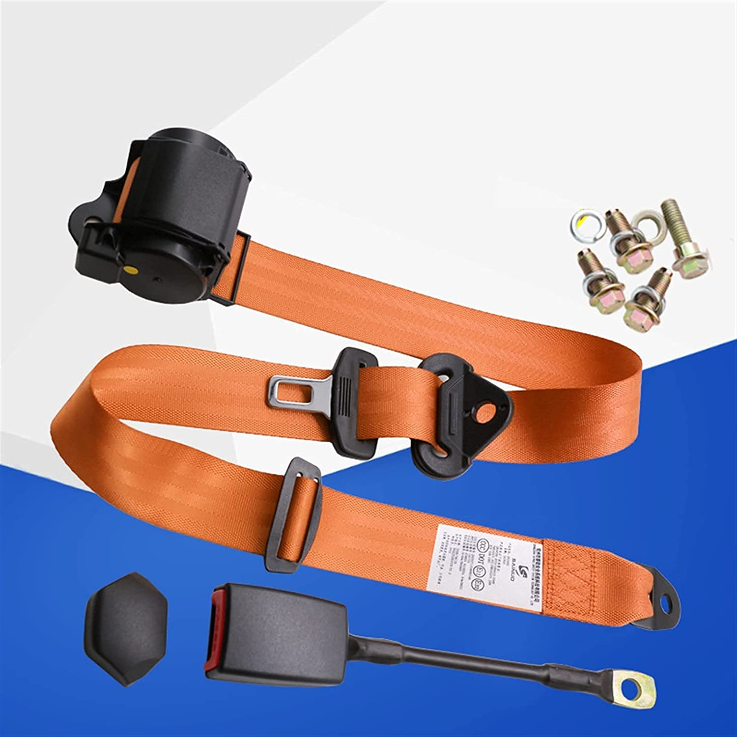 PARTAS Shipping included Adjusters Universal Retractable Three Seatbelt Now free shipping Point Car