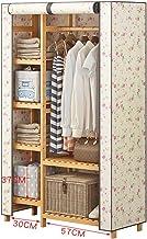 Râteliers multi-usages Portemanteau Porte-Manteau Beige en Bambou Garde-Robe Moderne Chambre penderie Support de Rangement...