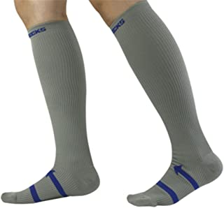 Calcetines De Compresión Que Ejecutan Hombres Y Mujeres Maratón Montando Calcetines De Deportes De Presión De Sudor De Secado Rápido Al Aire Libre,Gray,S