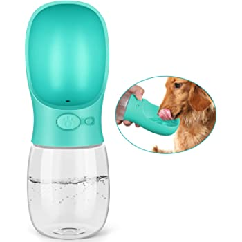 YOUSTYLO - YOU ARE PRIORITY Dog Water Bottle for Walking,Fashion Antibacterial Portable Pet Travel Water Drink Cup with Bowl Dispenser,Leak Proof,Portable,Fast and Easy - Food Grade BPA Free (Blue)