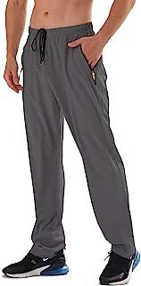 Sponsored Ad - AIRIKE Men's Elastic Waist Hiking Pants Water Resistant Quick-Dry Lightweight Outdoor Sweatpants with Zippe...