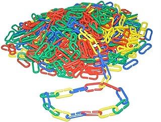 122 pcs Plastic C-clips Hooks Chain Links C-links Rat Parrot Bird Toy Cage DIY Plastic C-clips Hooks Chain C-links Sugar Glider Rat Parrot Cockatoos Cockatiels Conure Macaws Bird Pet Child Toy Parts