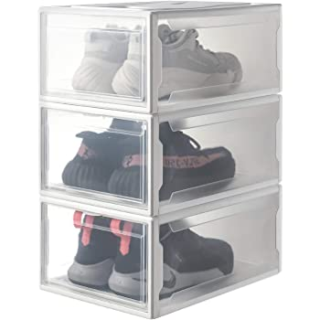 Iris Ohyama, lot de 3 boîtes à chaussures boîtes de