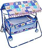Avani Baby Cradle Cot Cum Stroller Wheel (Blue)