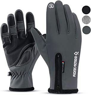 Hi Clasmix Winter Gloves for Men Women Touchscreen Non-Slip Gloves Warm Thermal Soft Waterproof Windproof Gloves for Cycling Riding Running Outdoor Sports