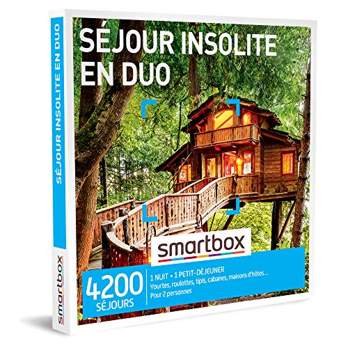 Smartbox - Coffret Cadeau Couple - Séjour Insolite en Duo - idée Cadeau - 1 Nuit avec Petit-déjeuner pour 2 Personnes