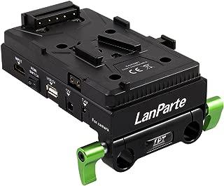 Lanparte Battery Back Pack Plate Adapter Power Supply Pinch With Internal HDMI Splitter for Sony V-shoe V-Mount V-Lock Battery External / for DSLR Camera Video Light