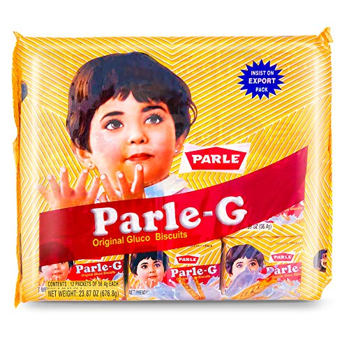Parle G Original Gluco Biscuits Product of India Value Pack 12 Packets of 564g