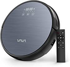 VAVA Robot Vacuum Cleaner 1300Pa Strong Suction, Self-Charging Sweeping Robot Good for Pet Hair-Grey
