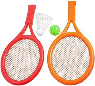 a2862ce1cce11 Romote Enfants Jouer Orange en Plastique Rouge Tennis Badminton Racket Set  Toy
