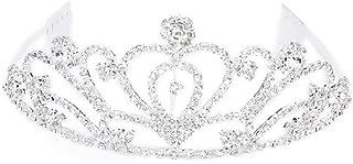 PIXNOR Tiara Nuptiale Strass Decor Hairband Capelli Clip Capelli Fibbia diadema di Matrimonio