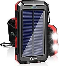 Solar Charger, F.DORLA 20000mAh Solar Power Bank Portable...