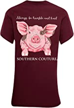 Southern Couture SC Classic Humble & Kind Farm Pig Womens Classic Fit T-Shirt - Maroon
