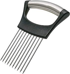 Food Choppers Slice Assistant,Stainless Steel Meat Slicer, Vegetable Rack Slicer, Onion Rack, Potato Slicer, Stainless Steel Fork Slicer, Kitchen Tools Chopping Knife