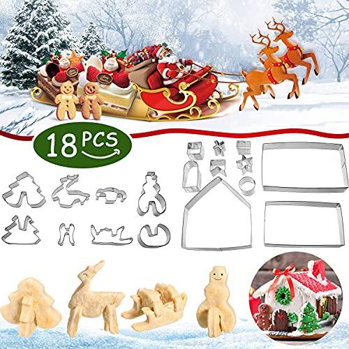 18 emporte-pièces de Noël 3D en Acier Inoxydable emporte-piè