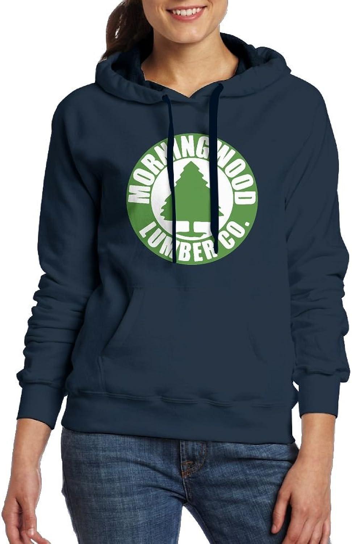 Morningwood Lumber Co Funny Womens Geek Long Sleeve Hoodie With Kangaroo Pocket