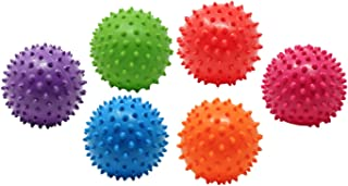 Hedstrom Knobby Balls (6 Pack) Squishy Educational Sensory Toddler Toys Colors Vary