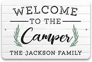 Pattern Pop Personalized Welcome to The Camper Metal Sign (8x12 Inches)