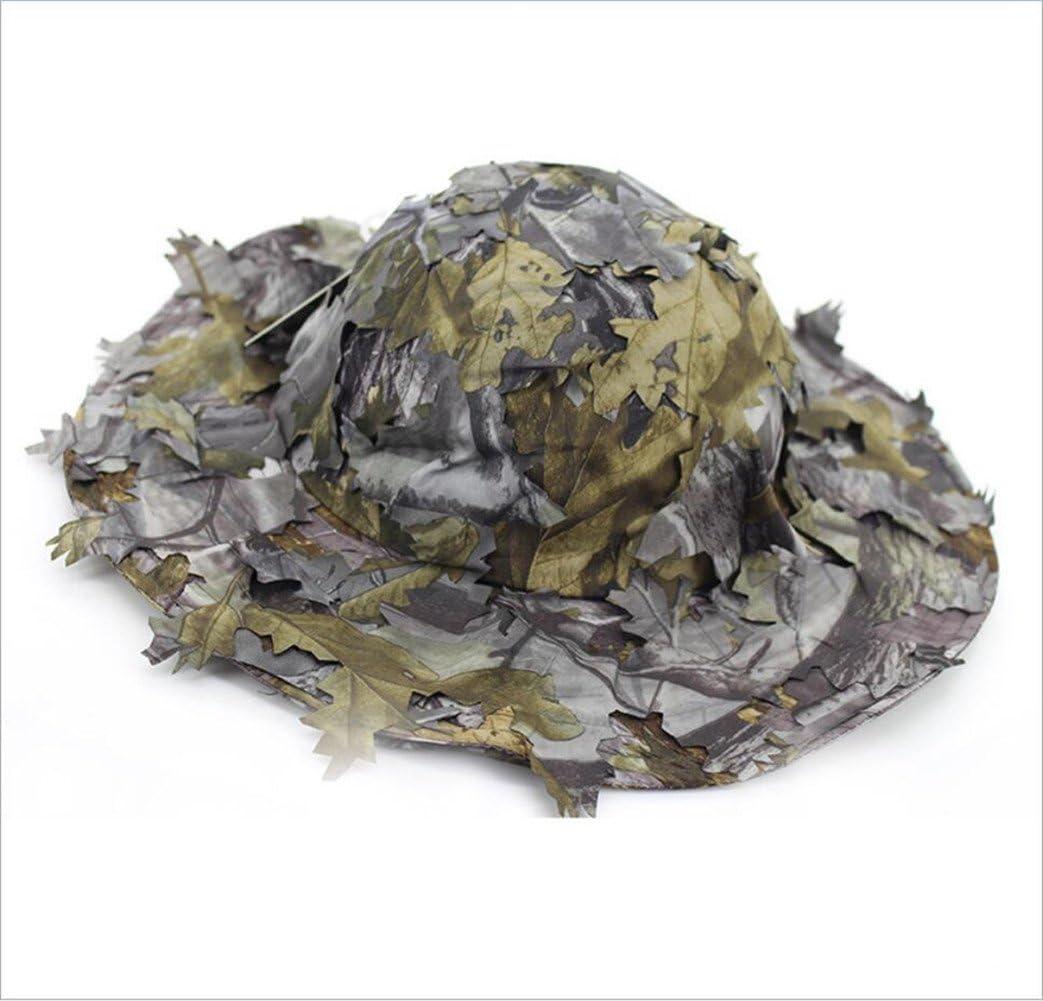 DETECH 3D Feuillu Camouflage Ghillie Chapeau Chasse P/êche Chapeaux Jeux de Guerre Arm/ée Camo Parasol Chapeau De Baseball Chapeau Hommes Femmes