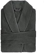 Bambury Waffle Weave - Polycotton - Charcoal - M/L Commercial Chateau Bath Robe, Medium/Large, Grey