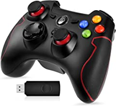 PS3 PC Dualshock Gaming Controller, EasySMX Wireless 2.4G Gamepads with Vibration Fire Button Range up to 10m Support PC, Playstation 3, Android TV Box