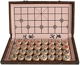 Luoyer 15 inch Chinese Chess Set with PU Leather Foldable Board Xiangqi Portable Chinese Chess Game Set Strategy Xiang Qi ...