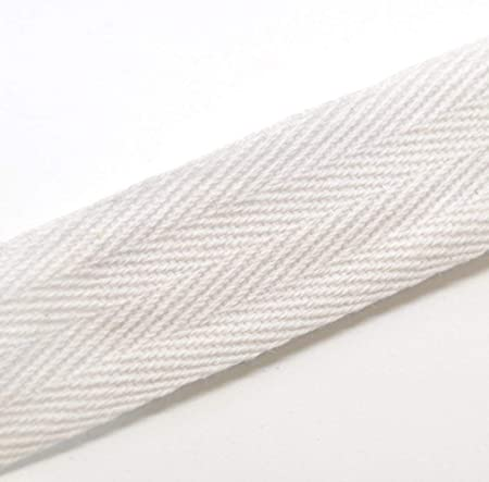 18 Yards Trimplace White 3//4 100/% Polyester Twill Tape