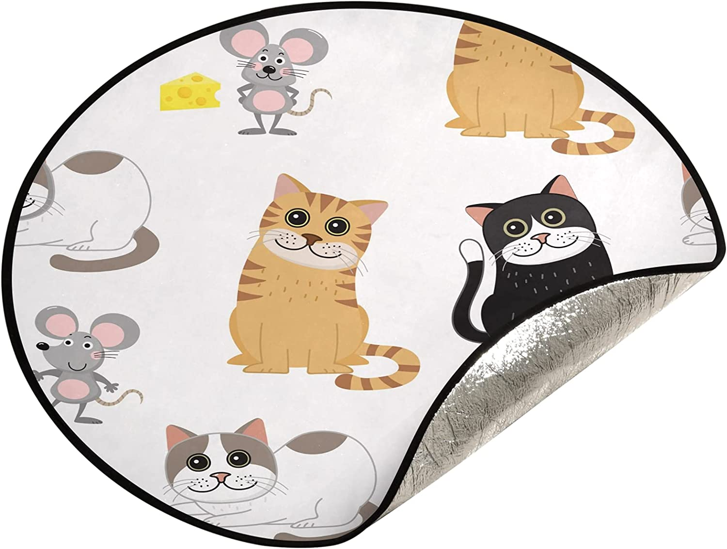 xigua 28.3 Inch Christmas Tree Stand Mat Excellent Wa Cat Price reduction Mouse Cute - and