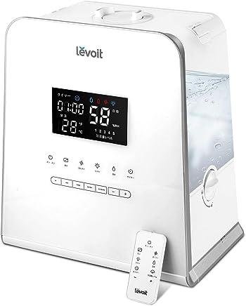 Levoit 加湿器 5.5L大容量 温冷ミスト 超音波式 連続運転50時間 リモコン操作 ミスト5段階調節 アロマ対応 静音 省エネ ナイトライト 25~44畳 LV-550HH