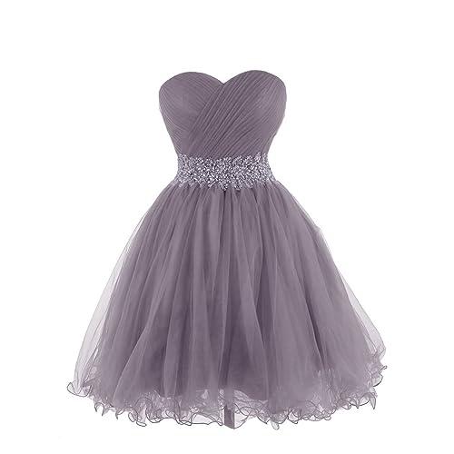 bb065c440e4 KARMA PROM Women s Sweetheart Tulle Cocktail Dress Homecoming Dress